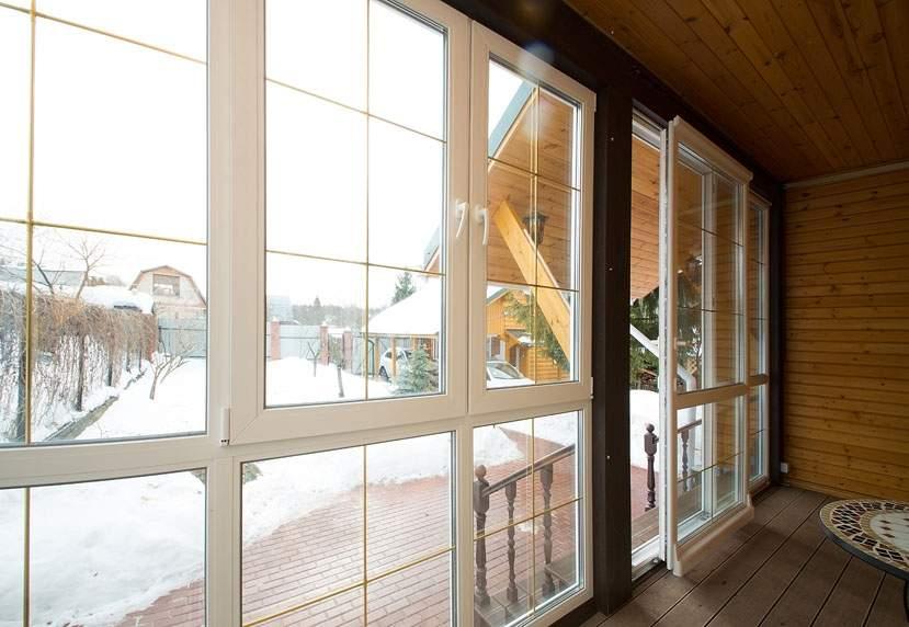 Распашные окна и двери из холодного алюминиевого профиля в й.