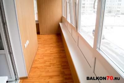 Утепление балкона 6 метров. северск, коммунистический 151 оо.