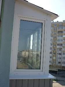 Балконные блоки (дверь приставное окно) из теплого алюминиев.